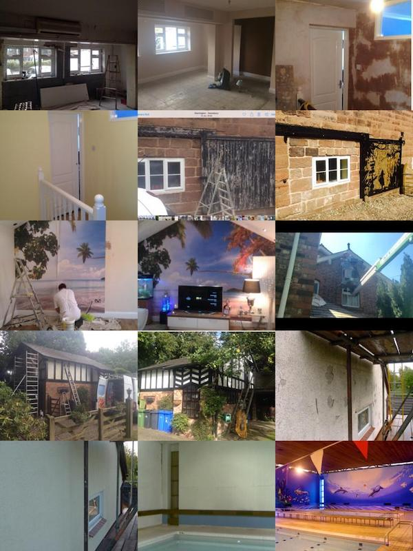 A collage of my decorating work